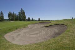 3 kursów golfowy piaska oklepiec Obrazy Stock