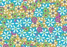 3 kwiatu wzór royalty ilustracja