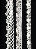 3 lace borders stock image