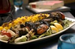 3 lamb kebabów Zdjęcie Stock
