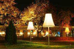 3 lampor arkivbilder