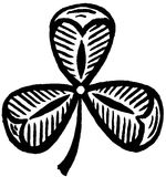 3 leaf clover. Illustration of a clover leaf royalty free illustration