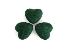 3-leaf clover leaf formed by green clews Royalty Free Stock Image