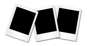 3 leeg fotoframe op wit Stock Afbeeldingen