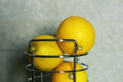 3 lemons Stock Photography