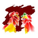 3 lew tańczącego ilustracji