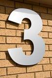 3 liczby Obrazy Stock