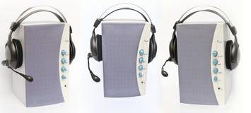 3 ljudsignal högtalare Arkivfoton