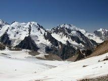 3 lodowaty na szczyt góry Obrazy Royalty Free