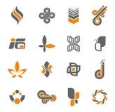 3 logo kolekcj zestaw Obrazy Royalty Free