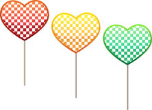 3 lollipops Stock Image