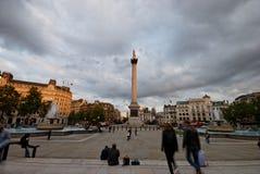 3 london fyrkantiga trafalgar Arkivfoton