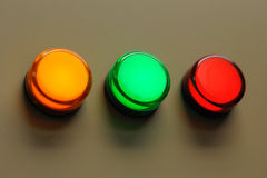 3 luzes da cor Fotos de Stock