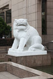 3 lwów rzeźby kamień Fotografia Stock