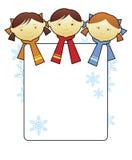 3 lyckliga ungar royaltyfri illustrationer