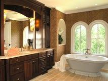 3 lyx för 5 badrum Arkivfoton