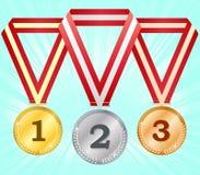3 médailles illustration de vecteur