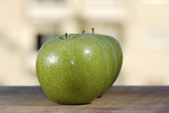 3 maçãs Fotografia de Stock