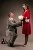 3 małżeństwo propozycja Zdjęcia Royalty Free