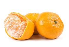 3 mandarini isolati Fotografia Stock Libera da Diritti