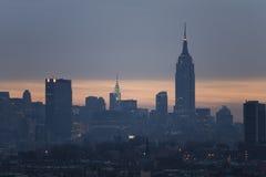 3 Manhattan, linia horyzontu obrazy stock