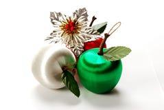 3 manzanas de Chirstmas Imagen de archivo libre de regalías