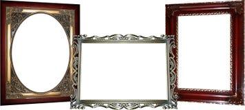 3 marcos adornados Imagen de archivo libre de regalías