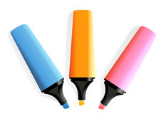 3 markers Royalty Free Stock Photo