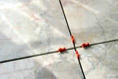 3 marmortegelplattor Royaltyfri Foto