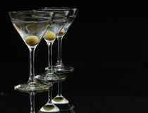 3 martini's Stock Photo