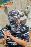 3 maskowy policjant Obraz Royalty Free