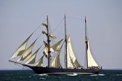 3 mast schooner  Royalty Free Stock Images