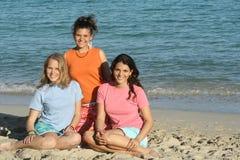 3 meisjes in t-shirt Stock Afbeelding