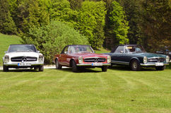 3 Mercedes Benz 280 SL cabrio Stock Images