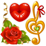 3 miłość setu wektor Zdjęcie Stock