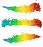 3 milieux colorés abstraits Illustration Stock