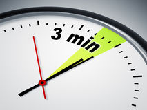 3 min. An image of a nice clock with 3 min Royalty Free Illustration
