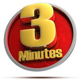 3 Minutes Gold 3d. Stock Images