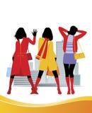 3 mod kobieta Royalty Ilustracja