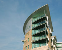 3 moderna lägenheter arkivbilder