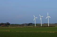 3 molinoes de viento Imágenes de archivo libres de regalías