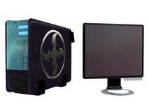 3 monitora lcd serwer obj. Obraz Royalty Free