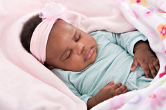 3 Month Old Little Baby Girl Sleeping Royalty Free Stock Image