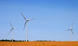 3 moulins à vent Images libres de droits