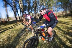 3 mountainbiking Стоковое фото RF