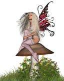 3 muchomor wróżek Obrazy Royalty Free