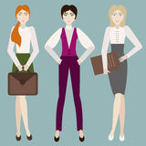3 mulheres ilustração royalty free