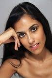 3 multiracial kvinnabarn för härlig headshot Royaltyfri Bild