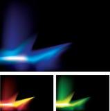 3 neon flashes Stock Photos