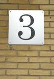 3 numery Zdjęcia Royalty Free